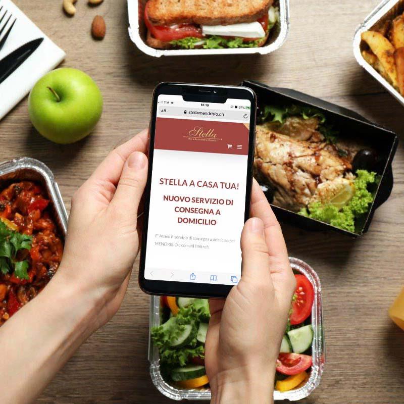 E-commerce e delivery - pizzeria stella mendrisio