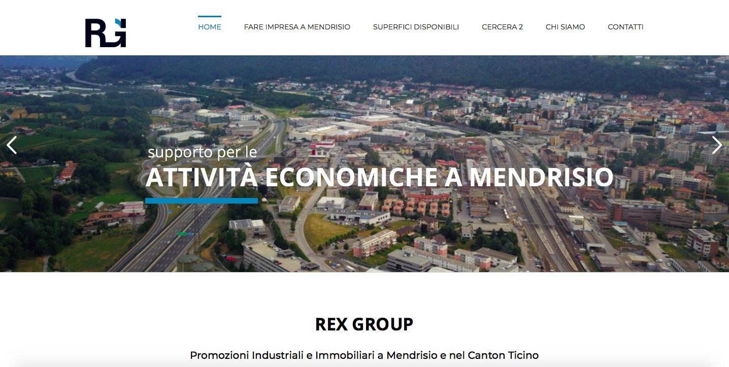 nuovo sito rex group sa homepage